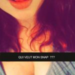 Pseudo snapchat d'une coquine gourmande